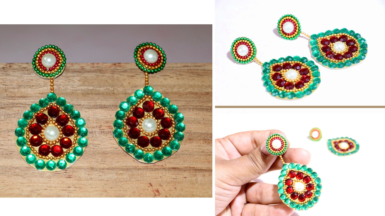 How to make Paper Earrings | Made out of Paper | Handmade Earrings ...