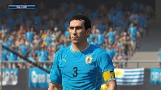 Tutorial uniforme de Uruguay eliminatorias Rusia2018 para PES2016 PS4 Next-Gen PESnosUNE