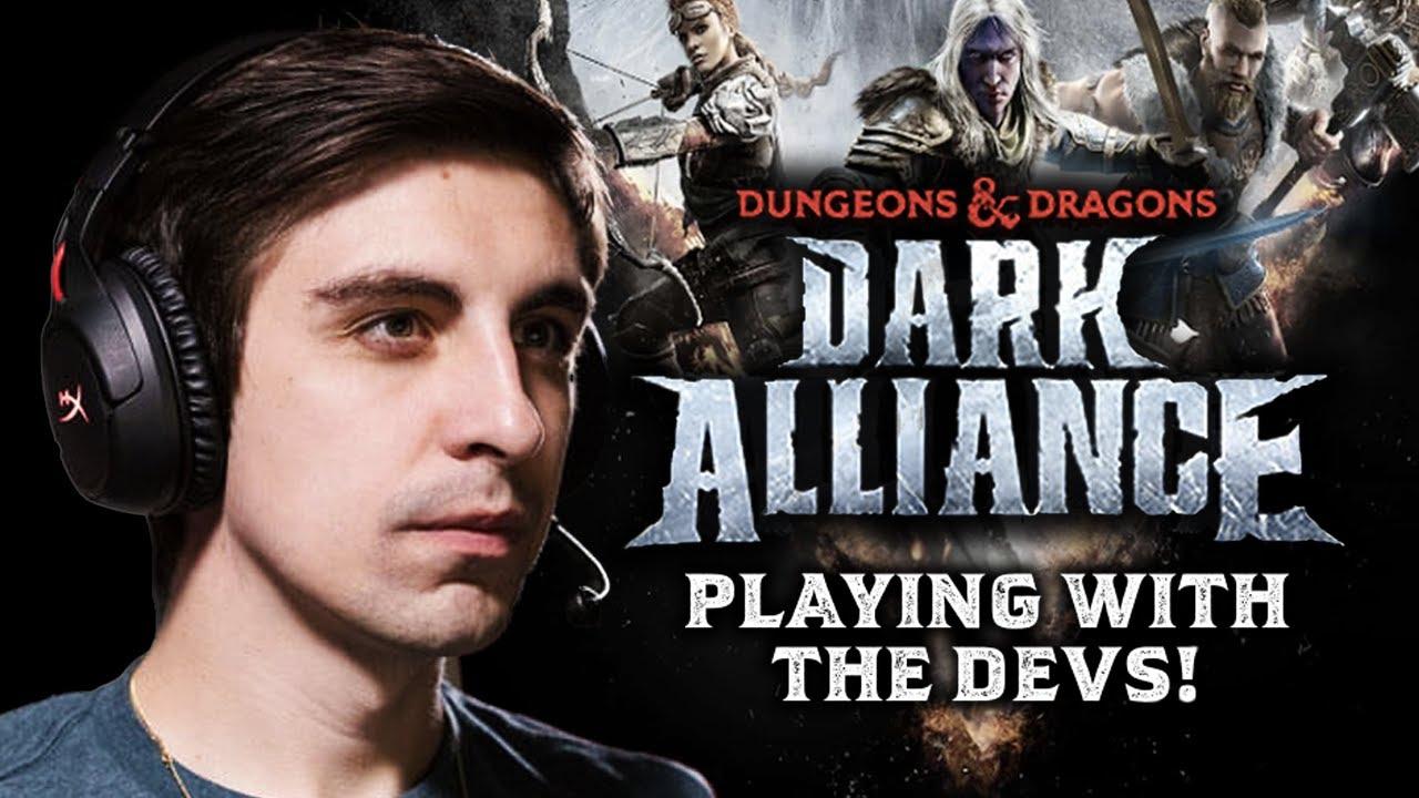 Watch Me Play Dark Alliance WITH THE DEVS | Dungeons and Dragons Dark Alliance