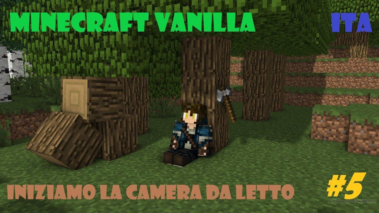 Camera Da Letto Minecraft minecraft vanilla ita ep5: costruiamo la camera da letto