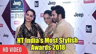 Varun Dhawan & Sonakshi Sinha At HT India's Most Stylish Awards 2018   Viralbollywood