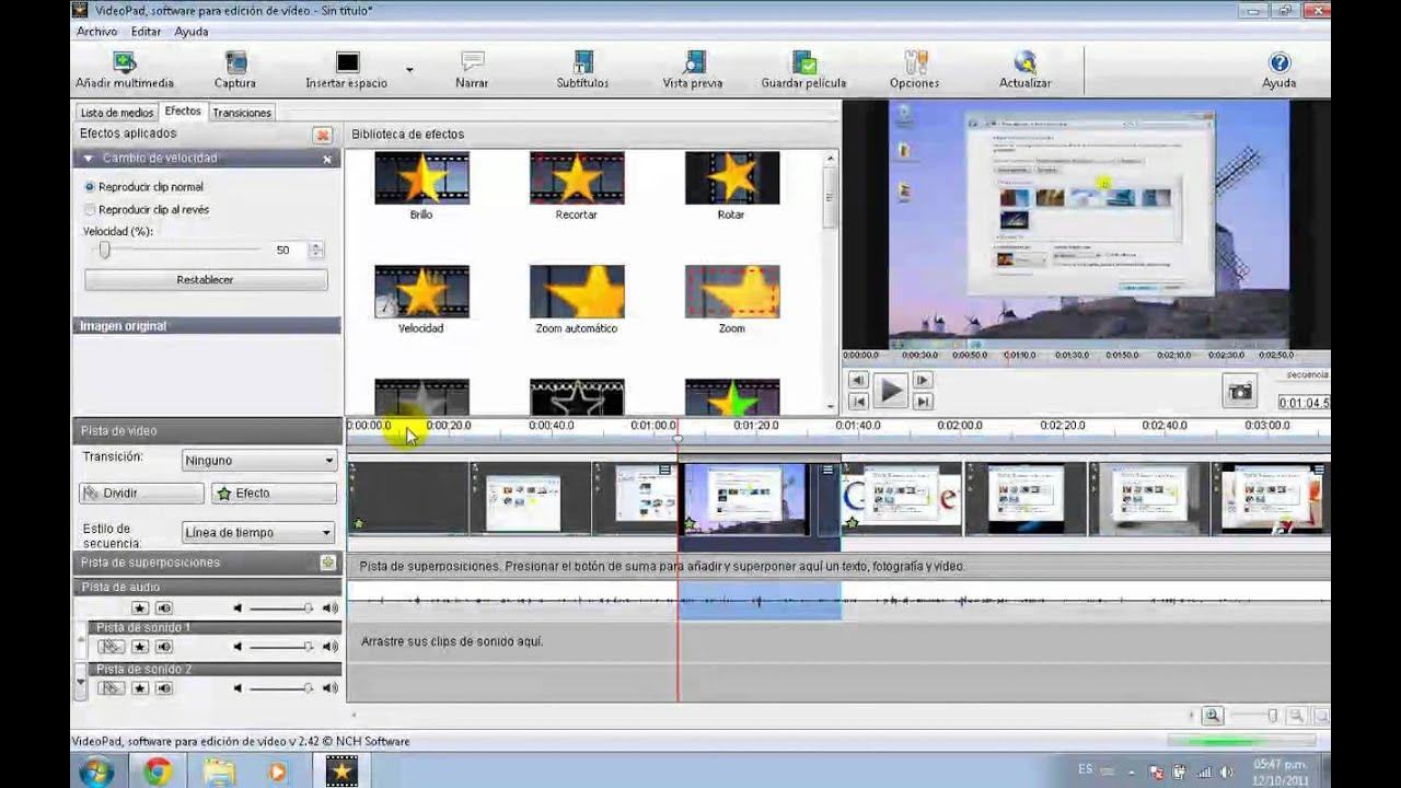 Tutorial VideoPad Camara Lenta, Rapida - YouTube