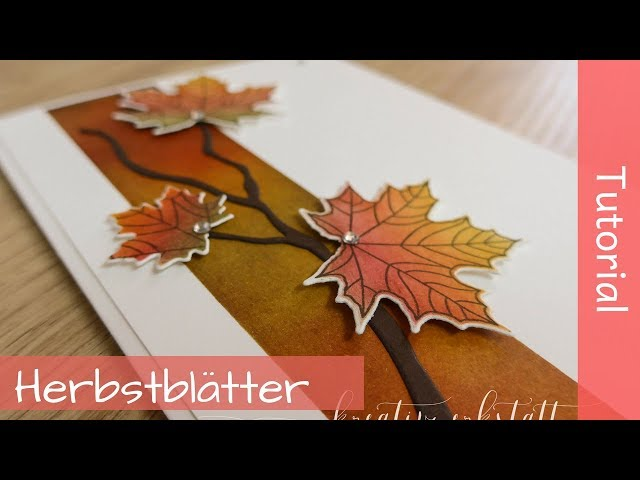 Herbstliches Kolorieren - Stampin' Up! Demonstrator - YouTube