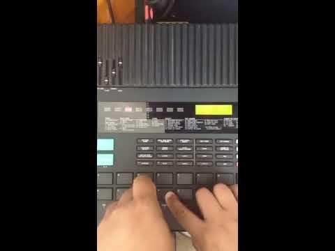 Yamaha RX5 Demo easy tutorial 1.