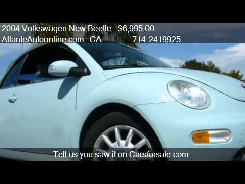 2004 Volkswagen New Beetle GLS 2.0L Convertible Blue - for