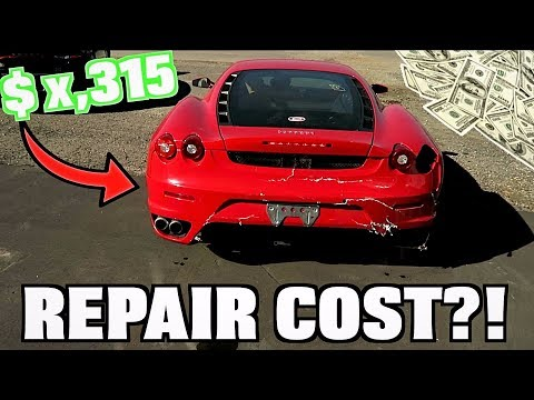 How Much To Fix My Wrecked Ferrari?? SHOCKING Answer!