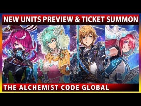New Units Albea, Fraise, Lucretia & Eve Preview (The Alchemist Code GLOBAL)
