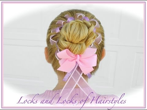 easter hairstyle woven ribbon