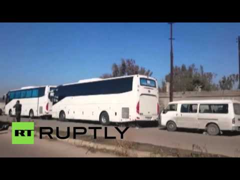 Syria: Militants evacuated from Homs under UN supervision