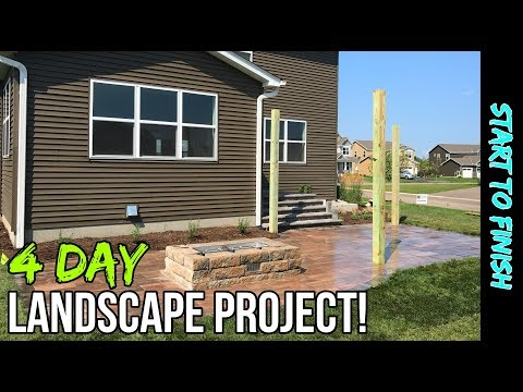 New Home, New Landscape! Backyard Landscaping Project