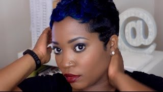 MESSY CURLS & WAVES SHORT HAIR TUTORIAL | THEHAIRAZOR