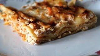 Мясной пирог, а-ля лазанья, на скорую руку Рецепт быстрого приготовления, итальянское блюдо