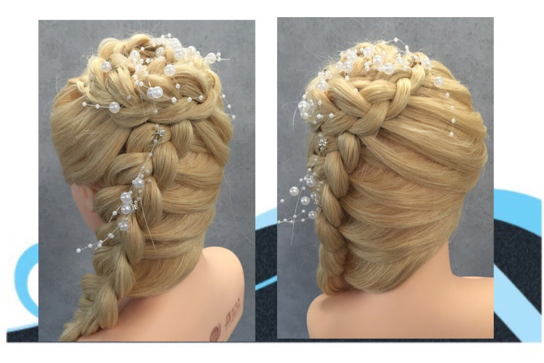prom hair styles for hair bruid feest gala kapsel wedding prom hairstyle 3437