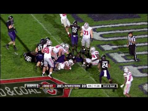 2013 Ohio State at Northwestern Football Highlights