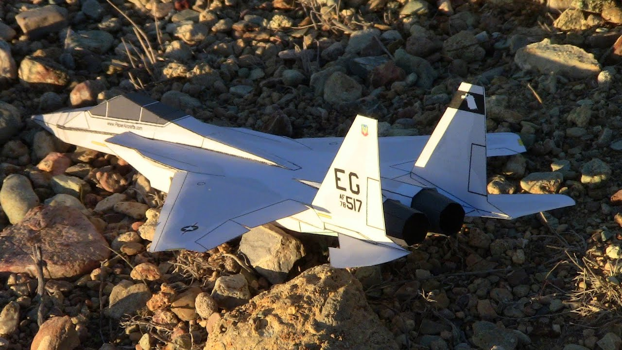 Papercraft F-15 Paper Airplane 3D model