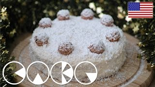 Snow Flake Cake - Coconut Cake Recipe