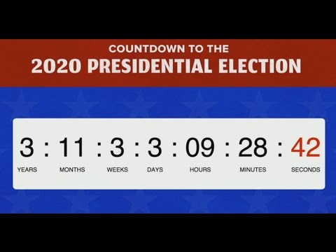 COUNTDOWN TO THE 2020 PRESIDENTIAL ELECTION LIVE