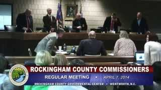 April 7, 2014 Rockingham County Board of Commissioners Meeting