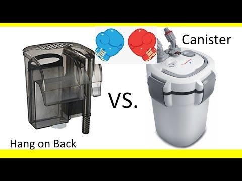 Canister Vs Hang On Back