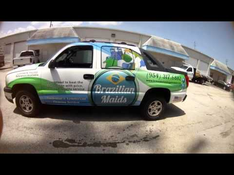 Commercial Cleaning Service Car Wrap