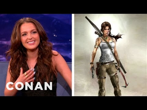"Camilla Luddington Died A Million Different Ways In ""Tomb Raider"" - CONAN on TBS"