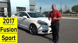 2017 Ford Fusion Sport Exterior, Interior, & Test Drive 0 60