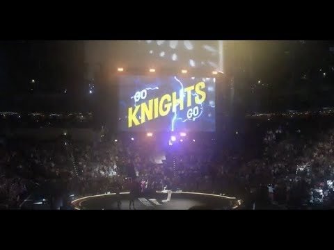 18,000 people in the O2 Arena in Prague with a special message for the Vegas Golden Knights
