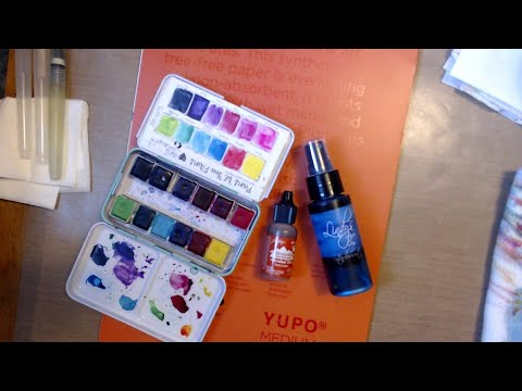 Yupo Paper with Watercolors, Magicals and Alcohol Inks