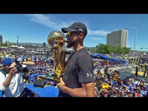 Hundreds Of Thousands In Oakland Celebrate Warriors NBA Championship
