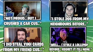 NINJA & STREAMERS CONFESS What They Stole & Did In The Past... (Fortnite Moments) thumbnail