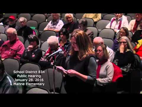 School District 834 Marine Public Hearing January 28, 2016 (