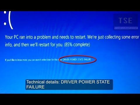 Fix driver power state failure bsod error youtube.