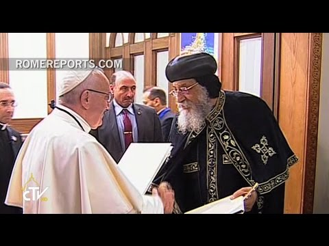 Pope Francis with Tawadros II: The martyrs of Egypt have lived the faith heroically