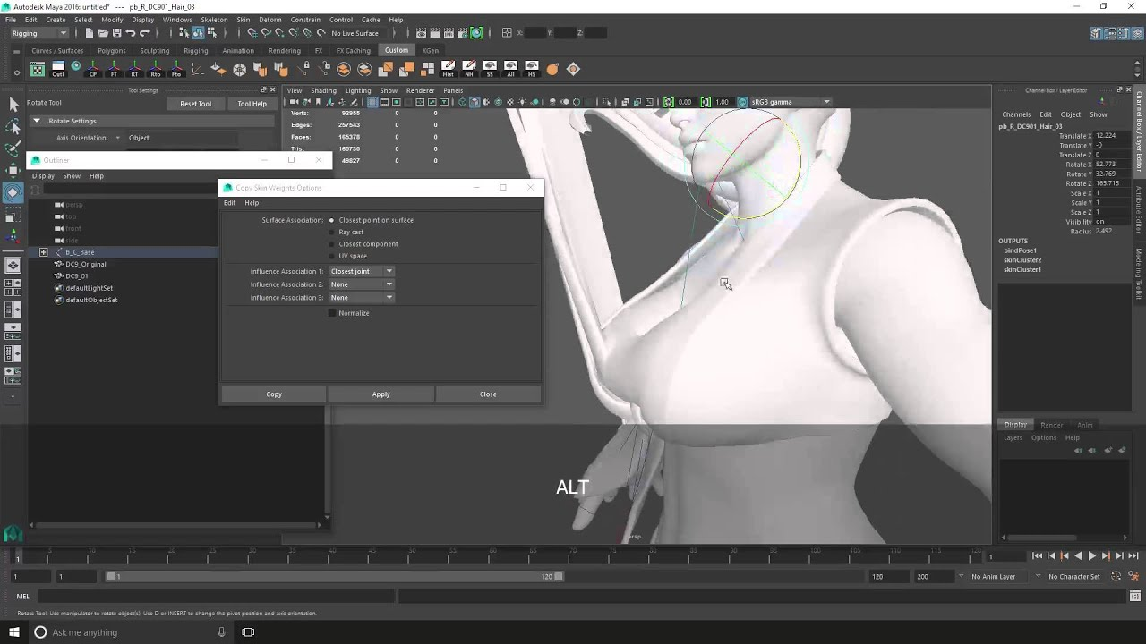 SFV Mods - Transfer Weighting in Maya