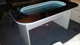 как сделать стол с эффектом бесконечности своими руками