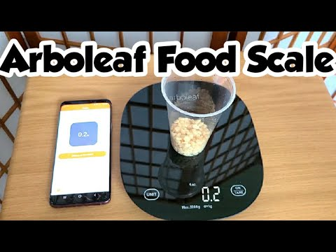 ARBOLEAF FOOD SCALE | great for accurate calorie counting + free app included