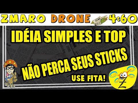 Fita! Super Idéia Simples E Top Para Não Perder Os Sticks Do Controle De Seu Drone Em 4:60 Com Zmaro