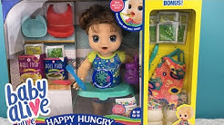 Opening Baby Alive Happy Hungry Baby Doll Bonus Pack from Walmart