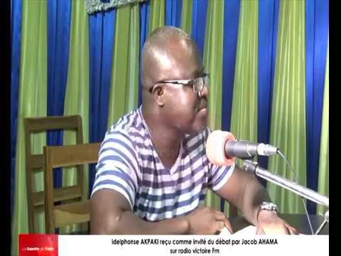 Idelphonse AKPAKI reçu comme invité du débat par Jacob AHAMA sur radio Victoire Fm