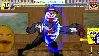Venom And SpongeBob SquarePants VS Hamburglar And Annoying Orange In A MUGEN Match / Battle / Fight