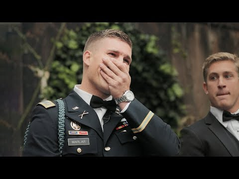 Military Groom Cries For His Bride - Best Wedding Video Reaction