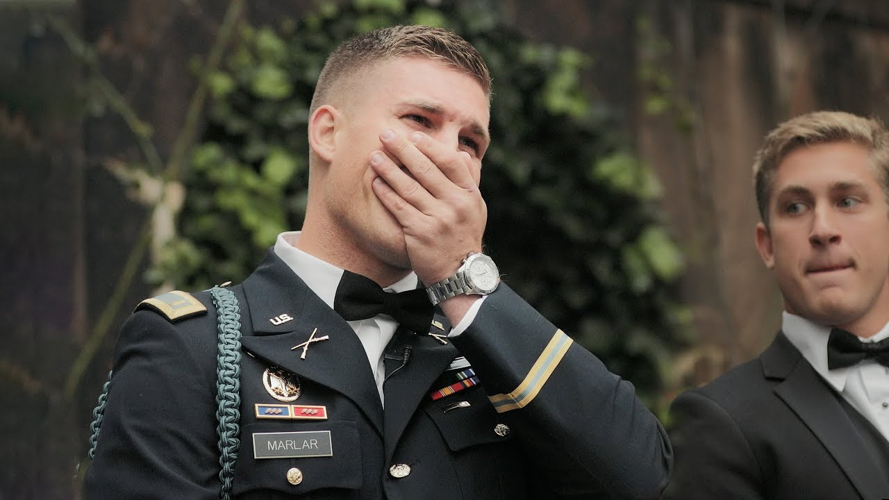 Military Groom Cries For His Bride Best Wedding Video Reaction