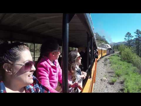 Durango to Silverton Narrow Gauge Train Ride in 4K
