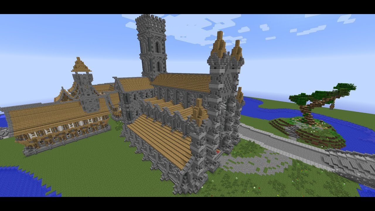 Minecraft Medieval Builds Medieval Church Cathedral