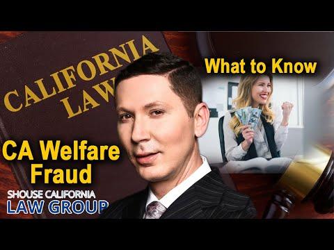 "California ""Welfare Fraud"" Laws"