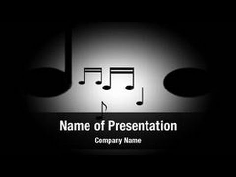 Musical Notes PowerPoint Video Template Backgrounds