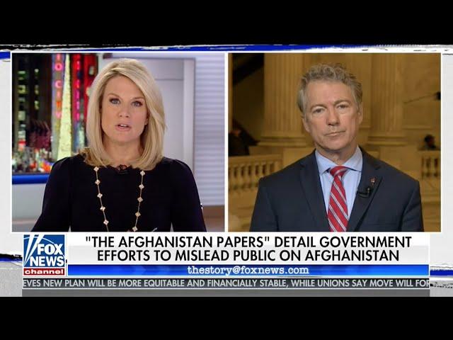 Sen. Rand Paul on The Afghanistan Papers and Saudi Arabia - Dec. 9, 2019