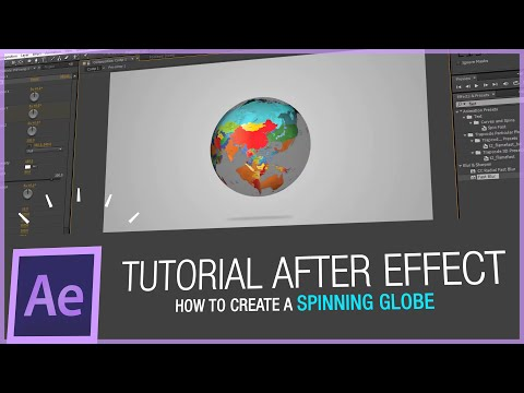 After Effects Tutorial - How to create a spinning globe in After Effects  HD -