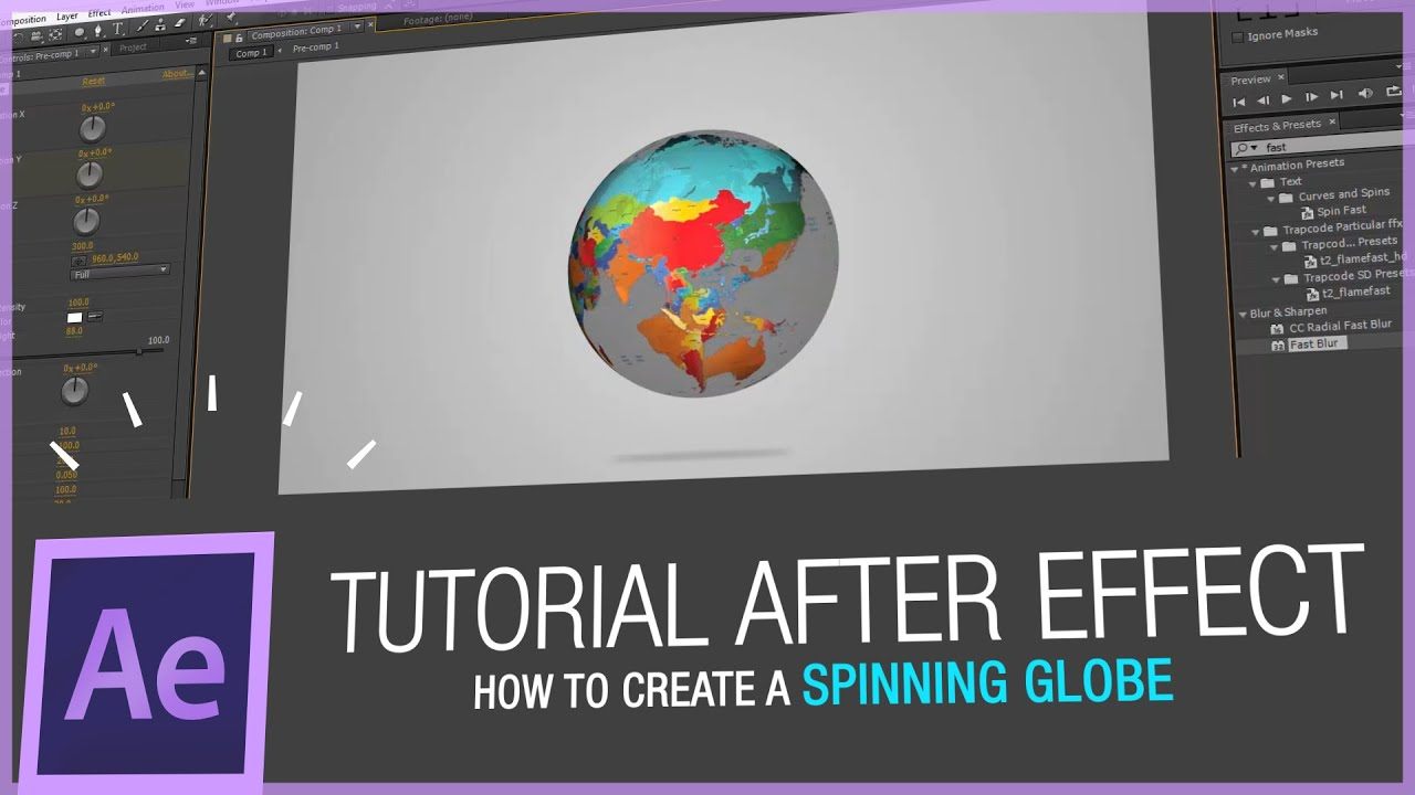 After effects tutorial how to create a spinning globe in after after effects tutorial how to create a spinning globe in after effects hd youtube gumiabroncs Images