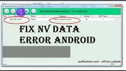 _BKF_NV_WLTE Failed | How to fix NV data read in phone is crashed in Reserach Download tool